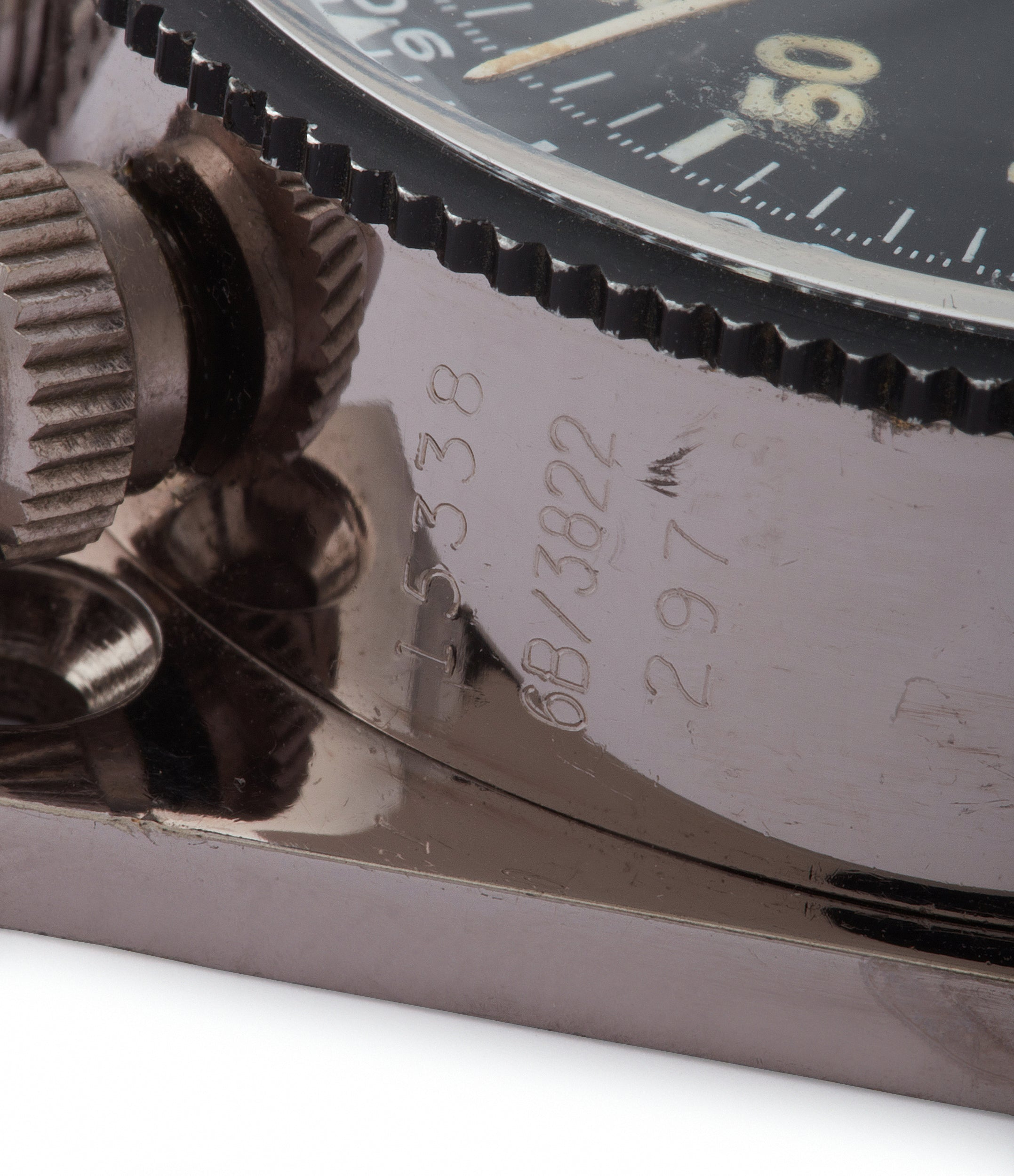 rare 3B/3822 Heuer Monte-Carlo Stopwatch Timer RAF-issued Broad Arrow chronograph for sale at A Collected Man London
