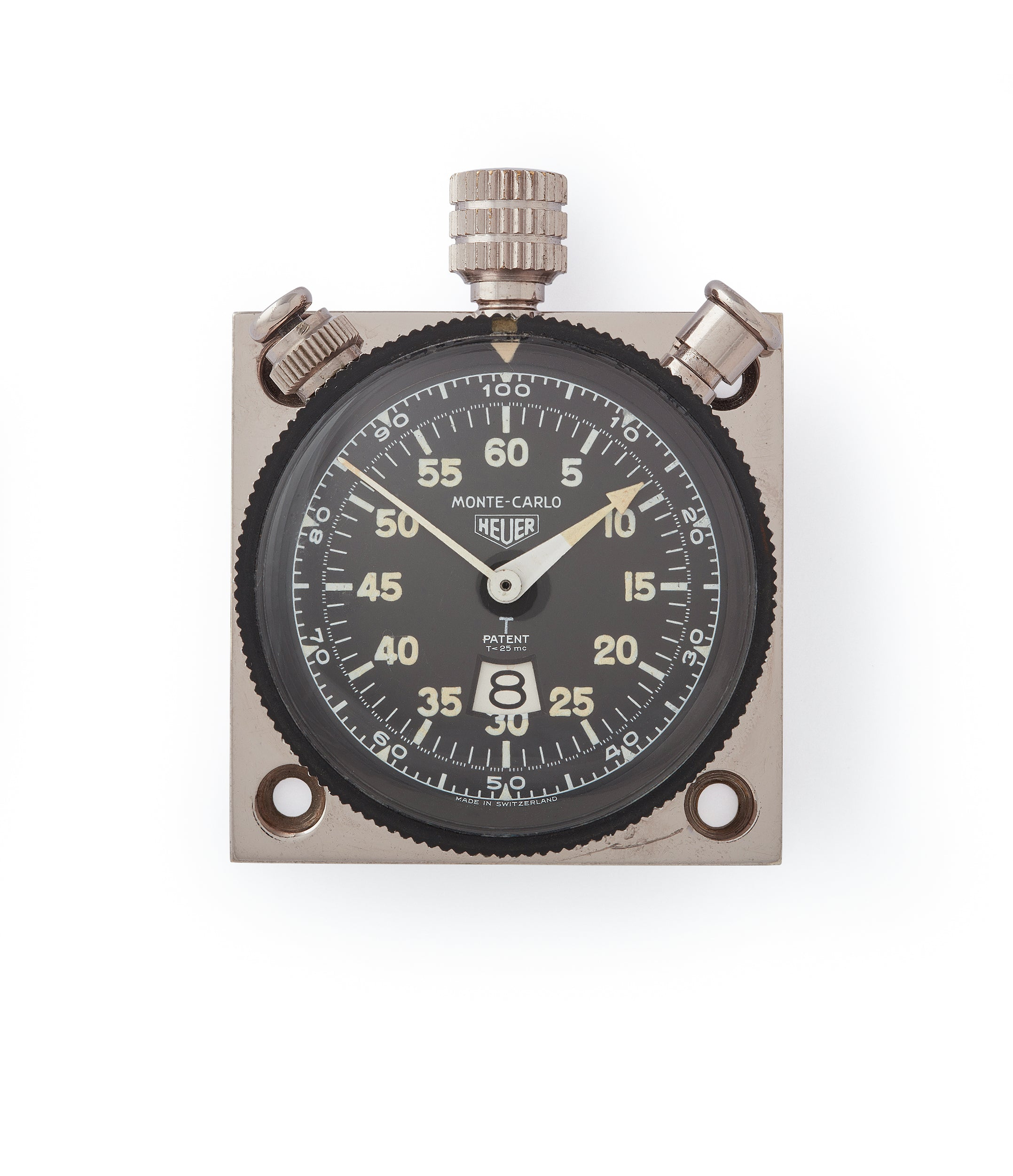 buy vintage Heuer Monte-Carlo Stopwatch Timer RAF-issued Broad Arrow chronograph for sale at A Collected Man London