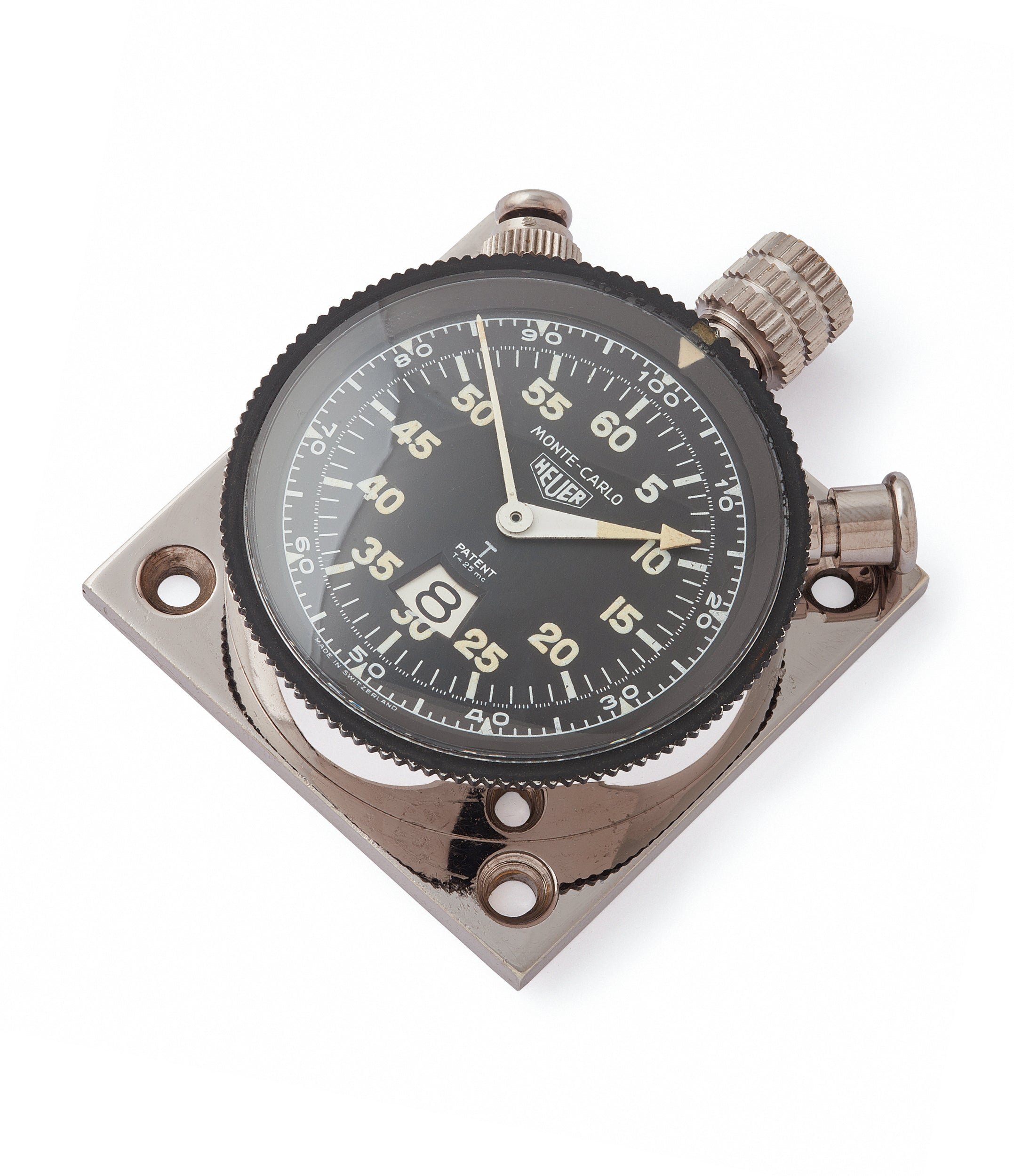 3B/3822 Heuer Monte-Carlo Stopwatch Timer RAF-issued Broad Arrow chronograph for sale at A Collected Man London