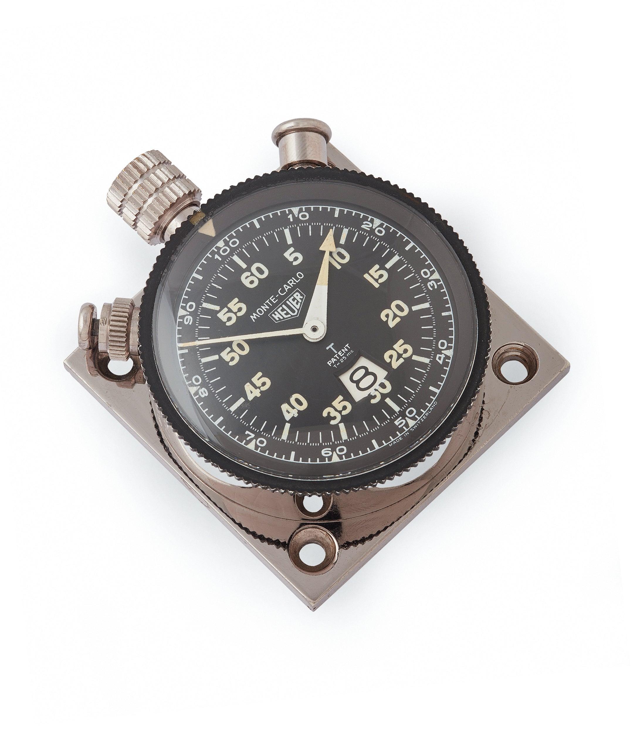 vintage Heuer Monte-Carlo Stopwatch Timer RAF-issued Broad Arrow chronograph for sale at A Collected Man London