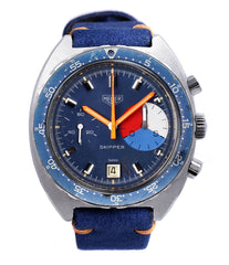 buy Heuer Skipper 73464 vintage steel chronograph sport watch online at A Collected Man London online rare watch specialist