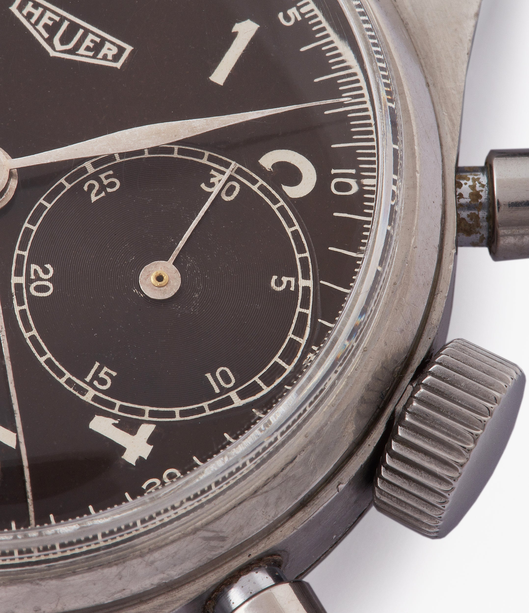 selling vintage Heuer pre-Carrera 406NR steel chronograph sport watch Landeron 13 for sale online at A Collected Man London UK rare watch specialist