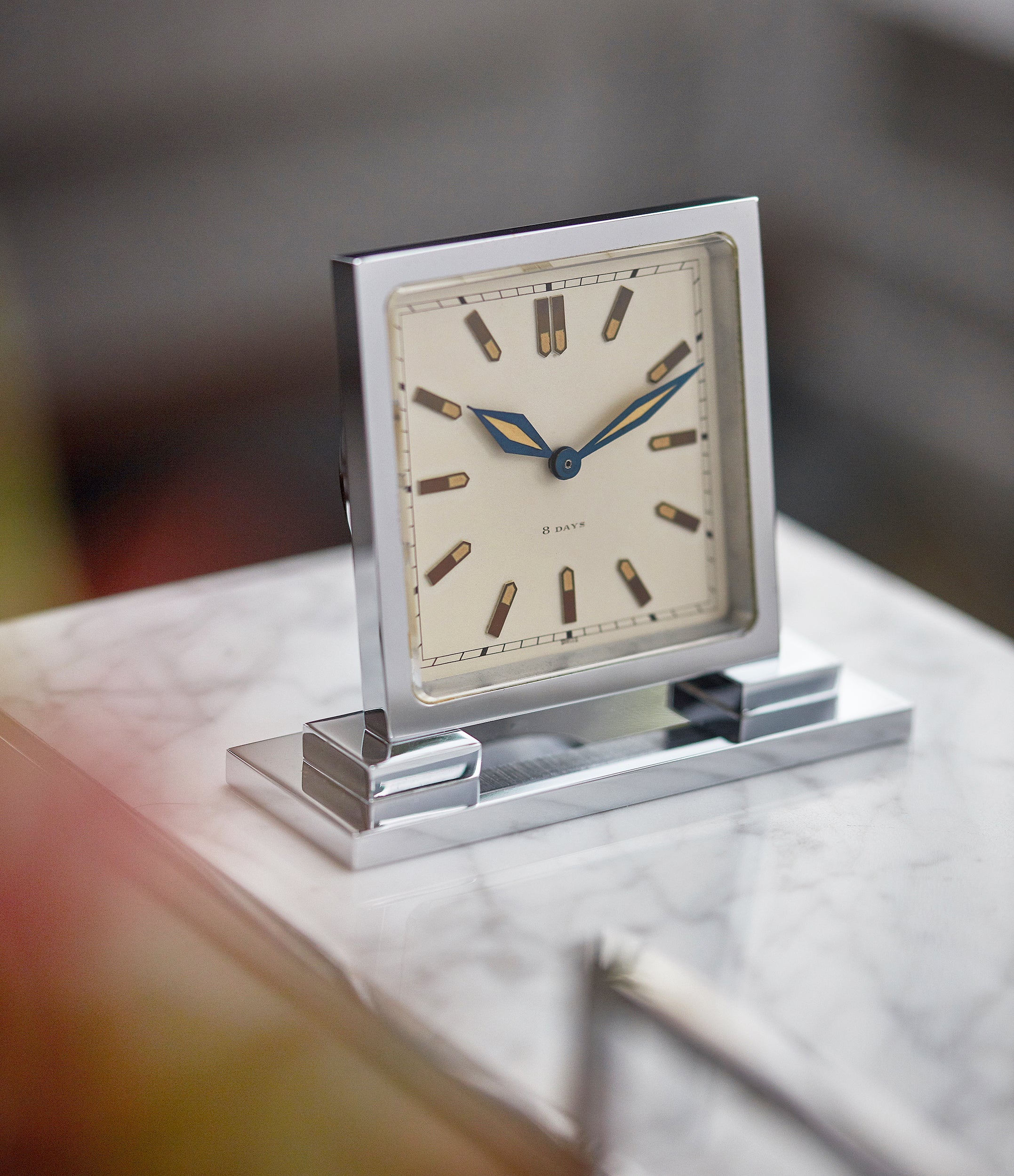 buy Hunt & Roskell Benson art deco time-only 1930s table clock  original box rare find collectable object A Collected Man
