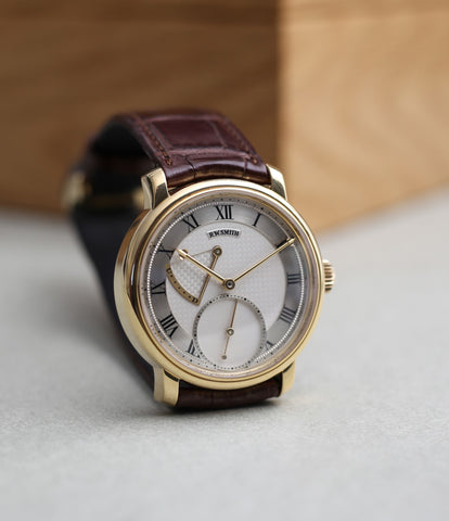 buy Roger W. Smith Series 2 watch independent British watchmaker yellow gold hand-made watch for sale online WATCH XCHANGE London