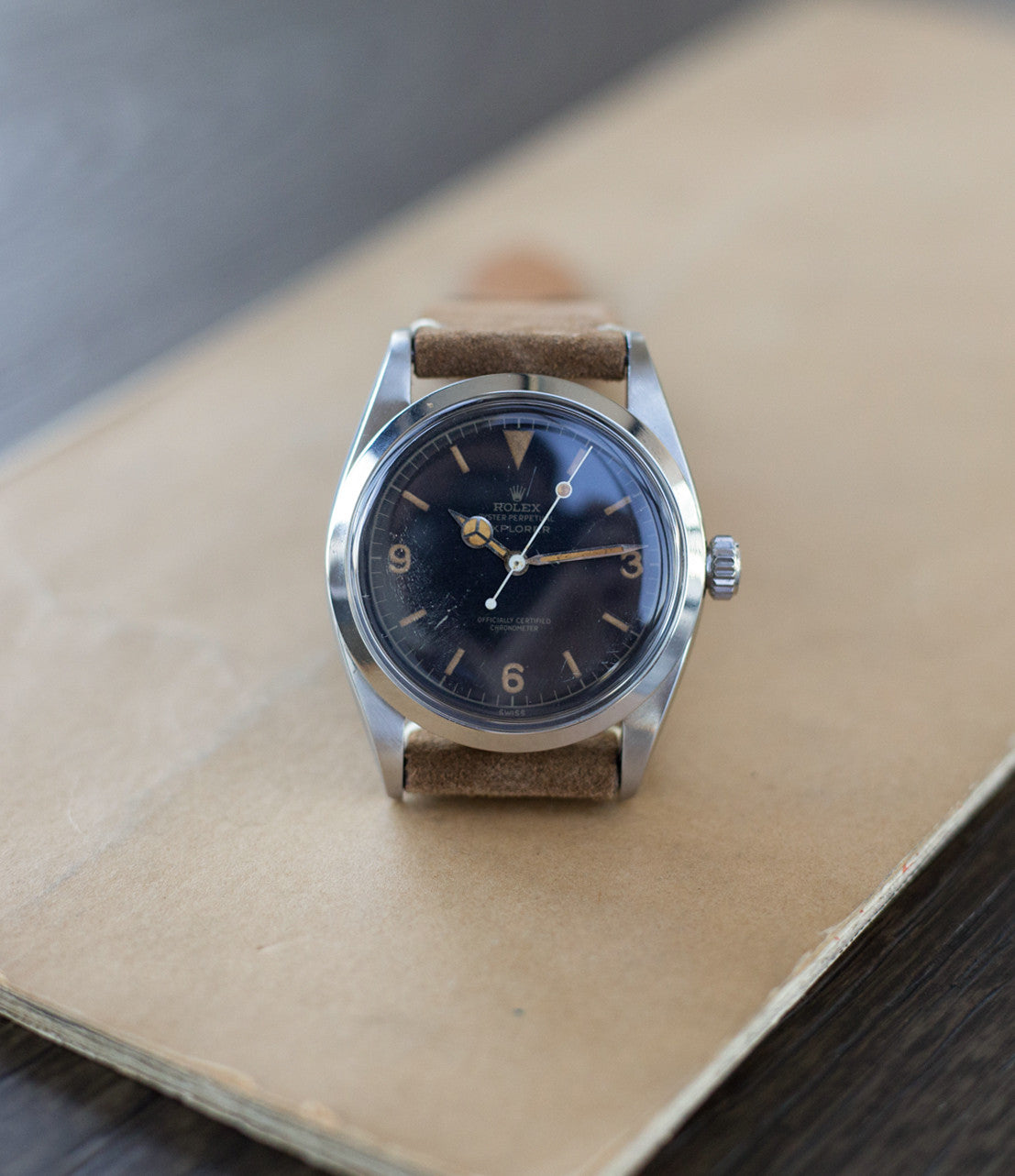 classic vintage Rolex Explorer 6610 steel watch at A Collected Man