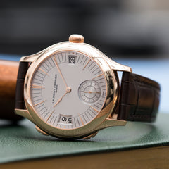 best traveller watch Laurent Ferrier Galet Traveller Micro Rotor LF 230.01 rose gold watch additional prototype dial for sale online at A Collected Man London UK approved reseller of preowned independent watchmakers