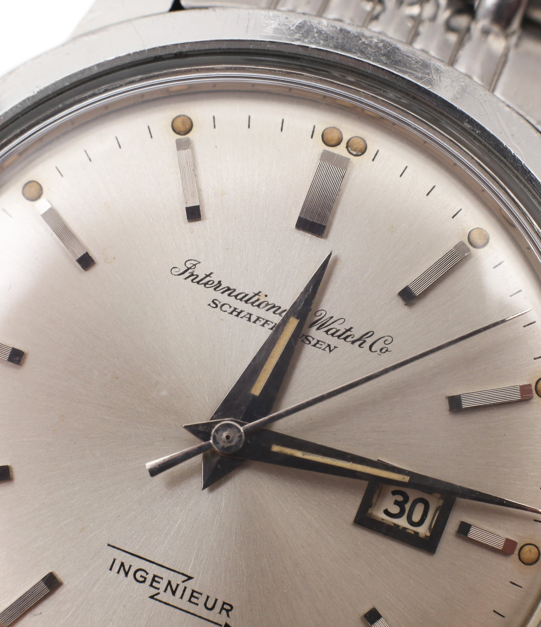 IWC Schaffhausen vintage Ingenieur watch 666AD steel watch unrestored dial for sale at A Collected Man