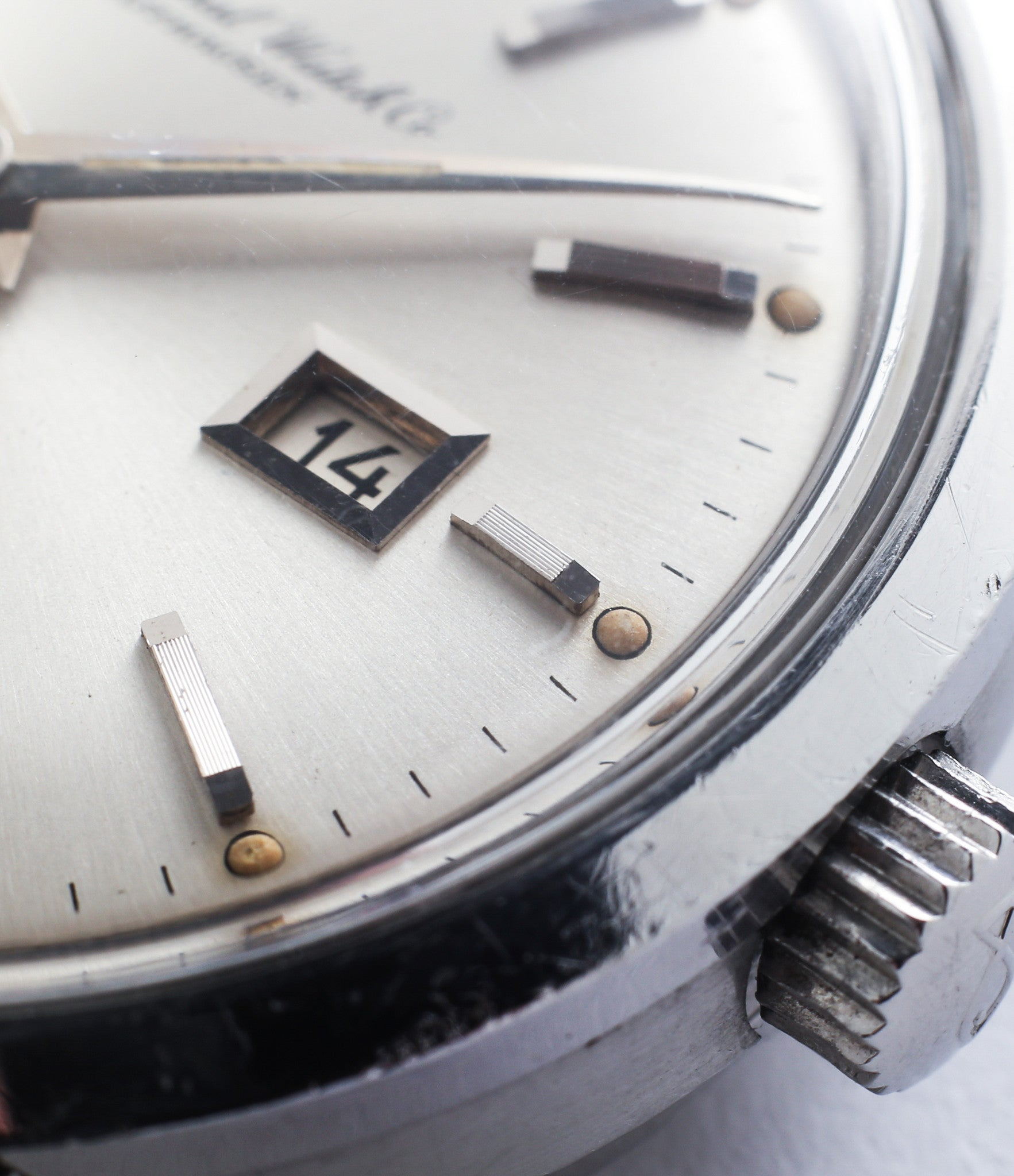 selling vintage IWC Ingenieur 666AD steel watch unrestored dial for sale at A Collected Man