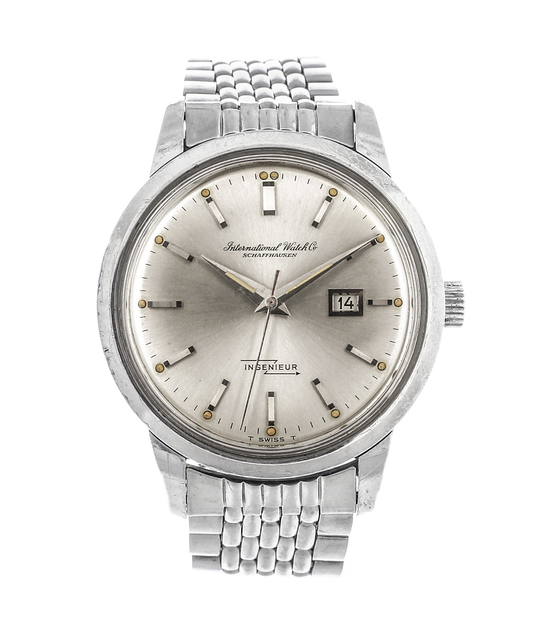 buy vintage IWC Ingenieur 666AD steel watch unrestored dial for sale at A Collected Man