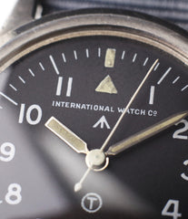 tritium dial IWC Mark XI 6B/346 vintage military RAF pilot steel watch online at A Collected Man London vintage military watch specialist