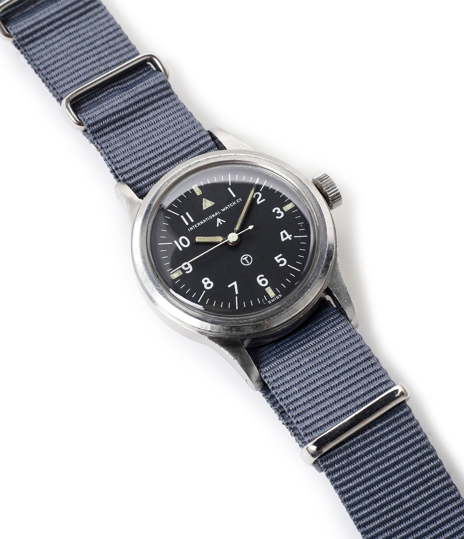 selling IWC Mark XI 6B/346 vintage military RAF pilot steel watch online at A Collected Man London vintage military watch specialist
