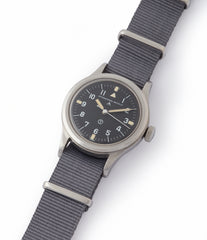 for sale vintage IWC Mark 11 6B/346 British RAF pilot's military steel watch for sale online at A Collected Man London UK specialist of rare watches