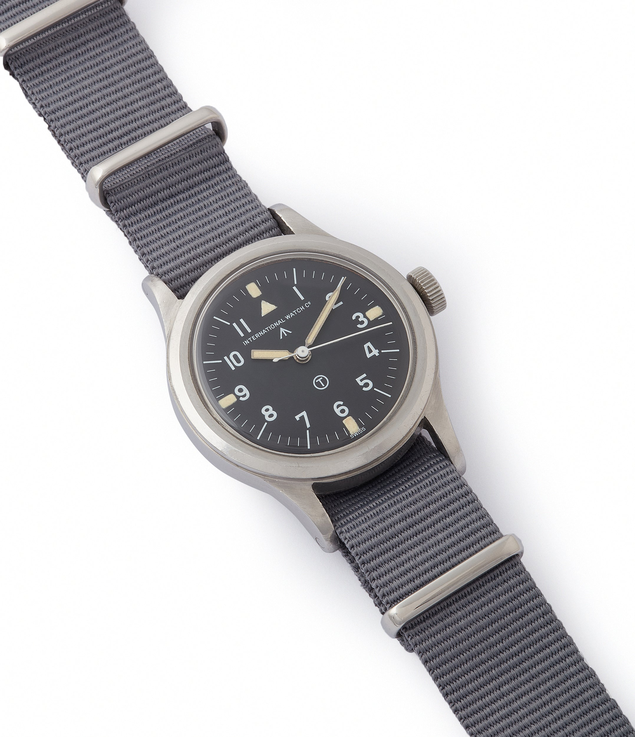 selling vintage IWC Mark 11 6B/346 British RAF pilot's military steel watch for sale online at A Collected Man London UK specialist of rare watches