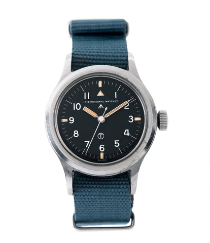 buy IWC Mark XI 6B/346 steel vintage military wristwatch Cal. 89 for sale online at A Collected Man London UK specialist of rare watches