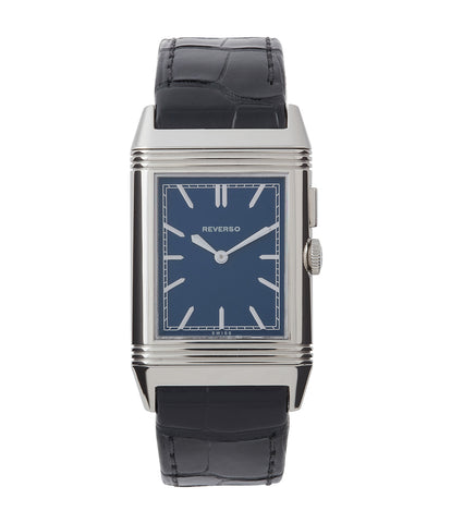 buy Jaeger-LeCoultre Grand Reverso Ultra-Thin Duoface Blue Boutique Edition 278.8.54 steel preowned traveller dress watch
