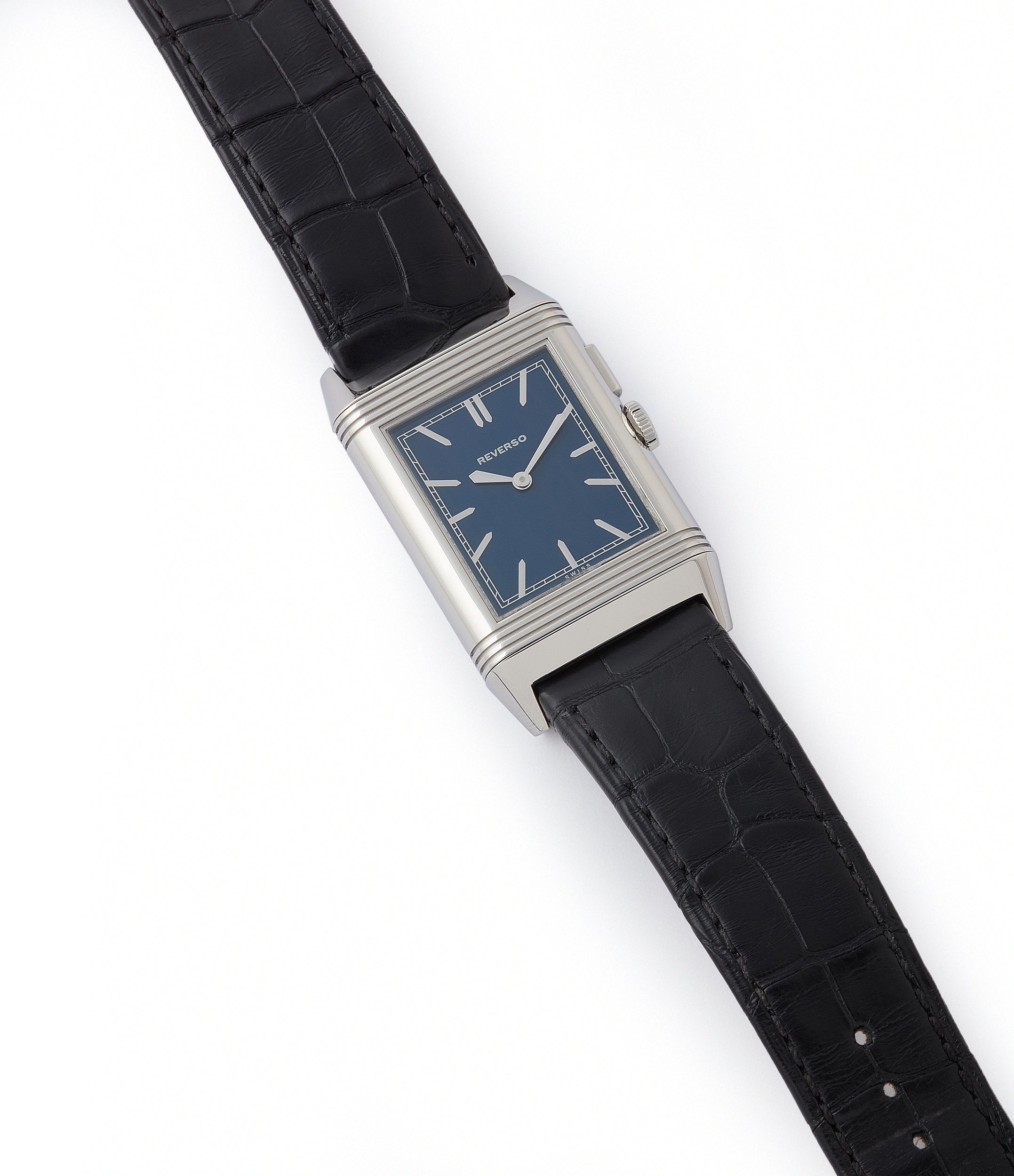 selling Jaeger-LeCoultre Grand Reverso Duoface Blue Ultra-Thin Boutique Edition 278.8.54 steel preowned traveller