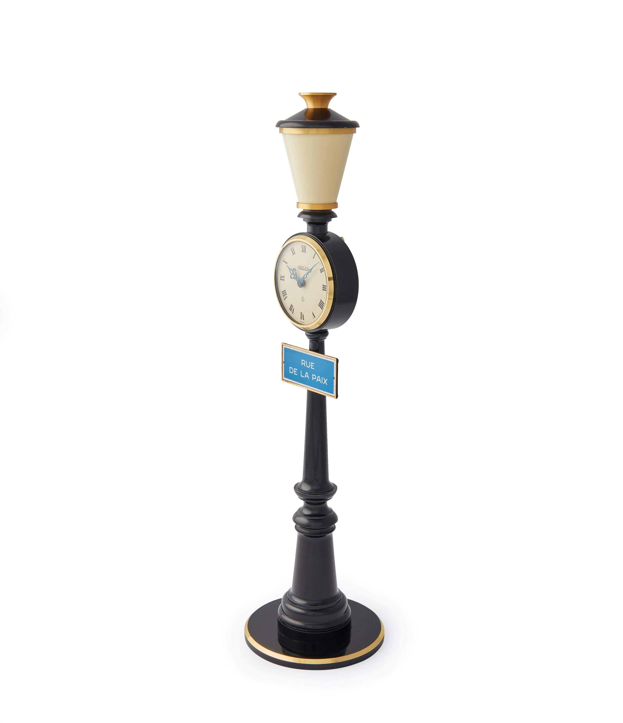 Rue de la Paix Lamp Post Clock | 8-day desk clock