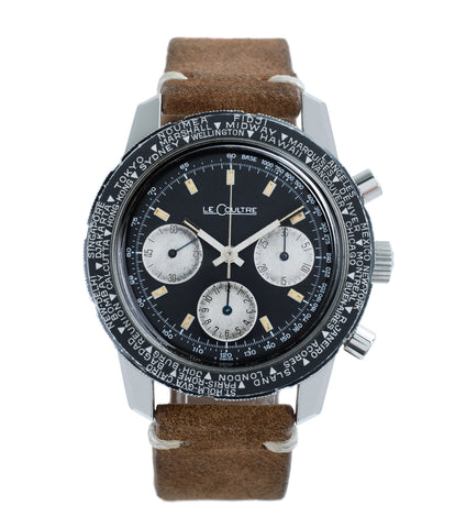 buy LeCoultre Deep Sea Shark E2643 steel vintage chronograph online at A Collected Man London vintage watch specialist
