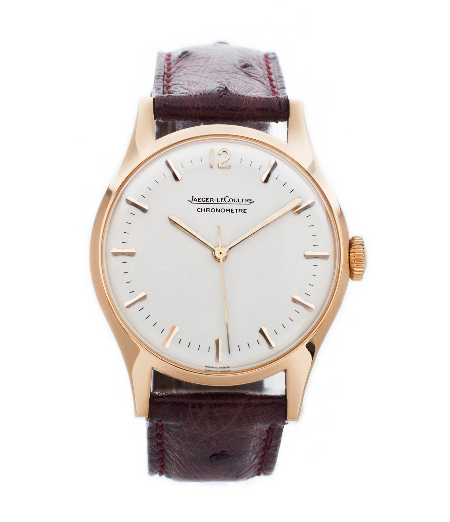 buy Jaeger-LeCoultre Geophysic Luxe 2985 rose gold rare vintage watch online for sale at A Collected Man London