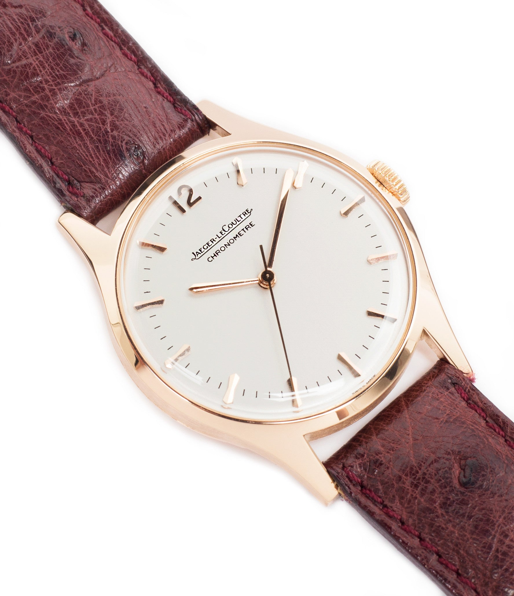 selling Jaeger-LeCoultre Geophysic Luxe 2985 rose gold rare vintage watch online for sale at A Collected Man London