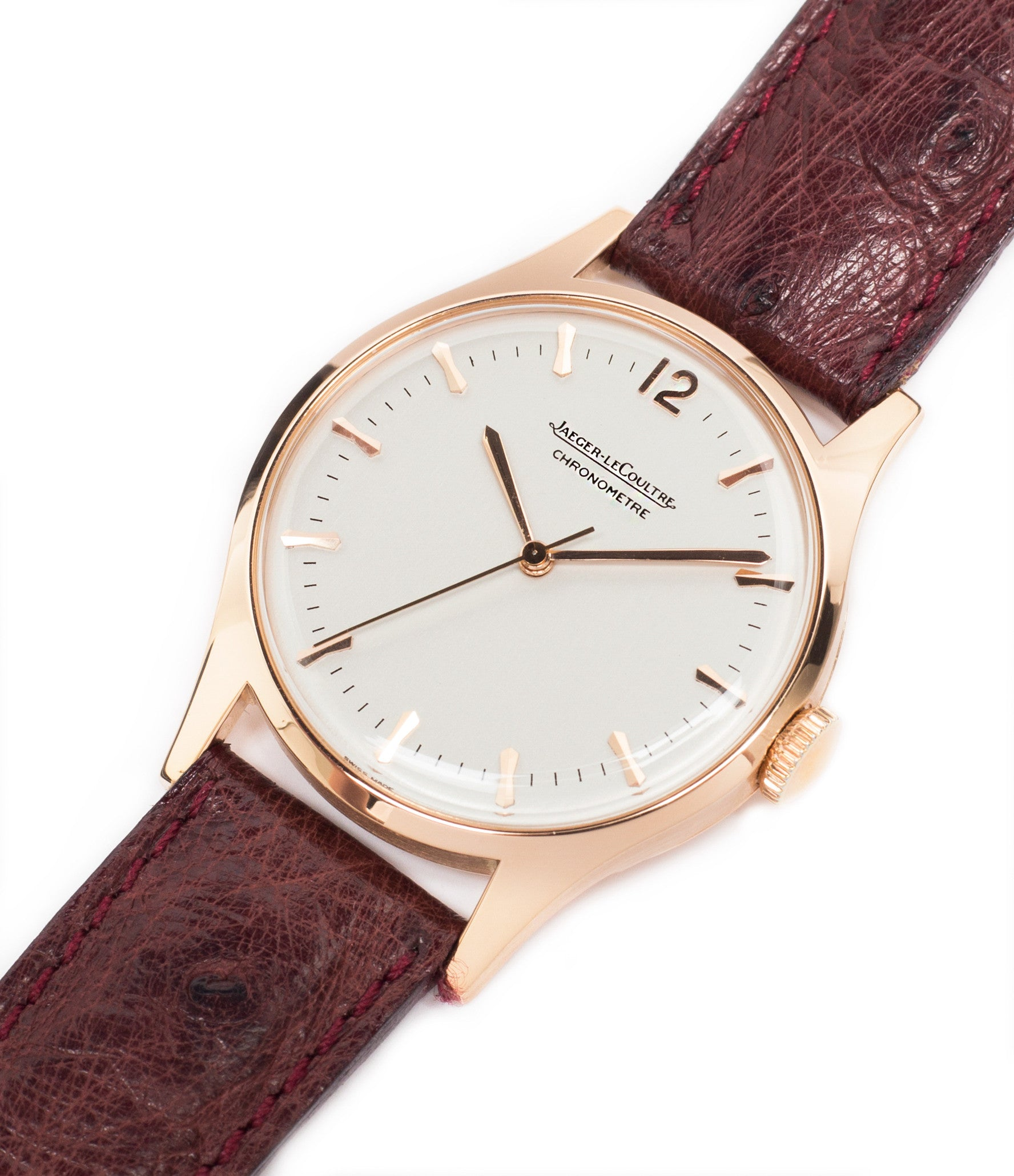 for sale Jaeger-LeCoultre Geophysic Luxe 2985 rose gold rare vintage watch online for sale at A Collected Man London