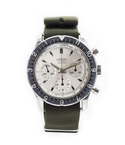 buy Jaeger-LeCoultre 4ATM E. 13001 steel vintage chronograph watch online at A Collected Man London seller rare vintage watches