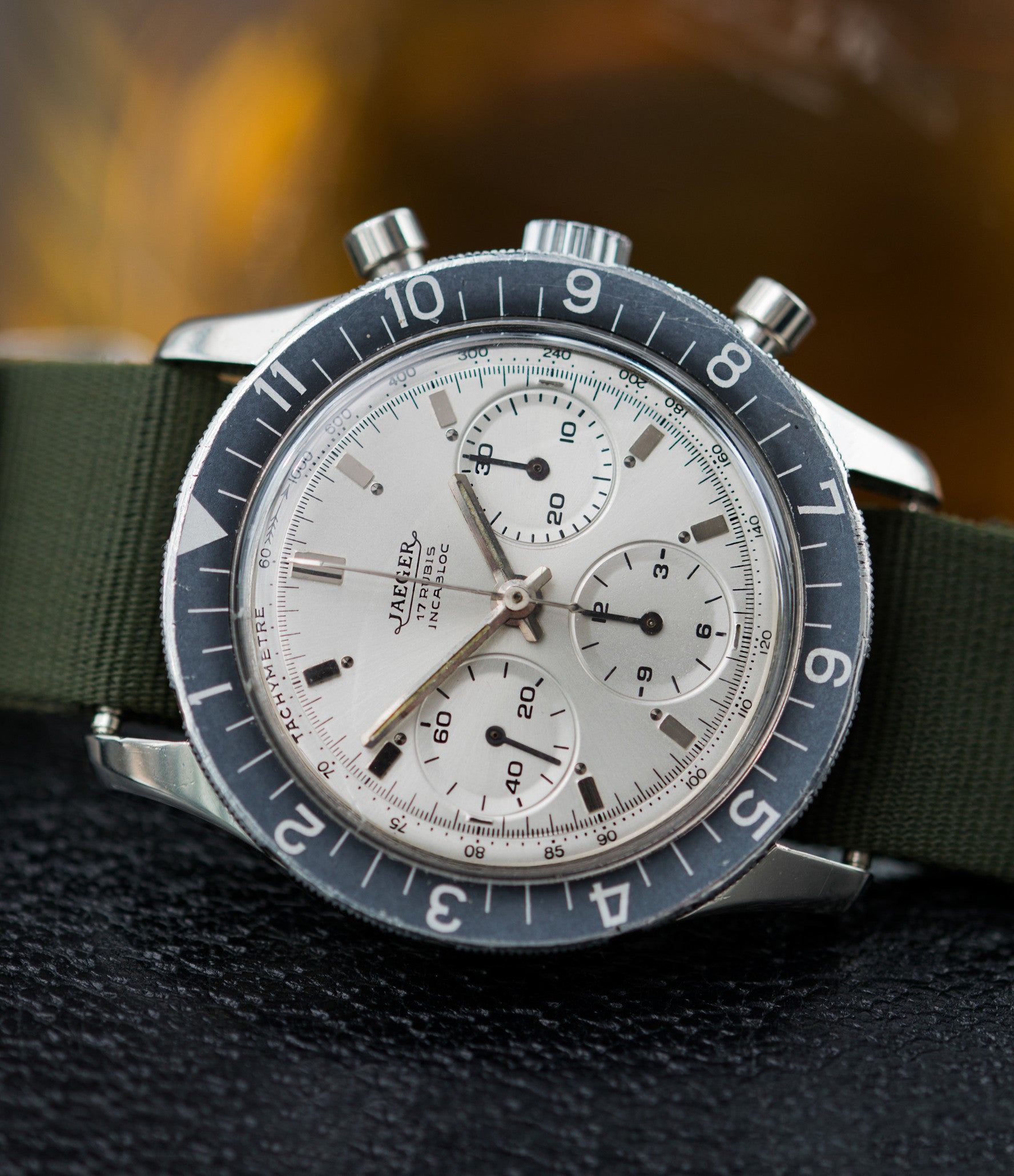 vintage sport watch Jaeger-LeCoultre 4ATM E. 13001 steel chronograph watch online at A Collected Man London seller rare vintage watches