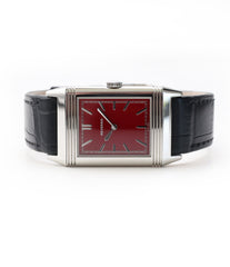 available buy Jaeger-LeCoultre Reverso 1931 Rouge red lacquer dial dress watch online at a Collected Man London