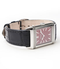 selling Jaeger-LeCoultre Reverso 1931 Rouge red lacquer dial dress watch online at a Collected Man London