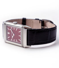 buying Jaeger-LeCoultre Reverso 1931 Rouge red lacquer dial dress watch online at a Collected Man London