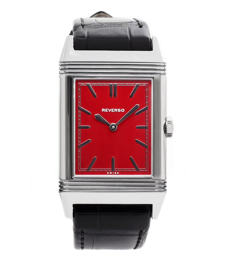 buy Jaeger-LeCoultre Reverso 1931 Rouge red lacquer dial dress watch online at a Collected Man London