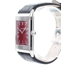 original crown Jaeger-LeCoultre Reverso 1931 Rouge red lacquer dial dress watch online at a Collected Man London