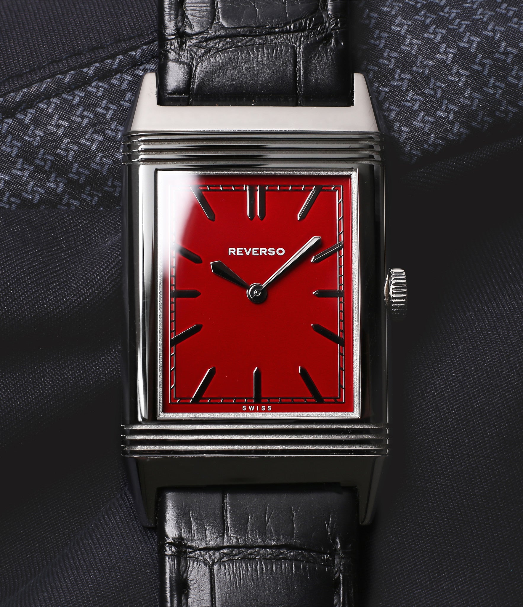 Jaeger-LeCoultre Reverso 1931 Rouge red lacquer dial dress watch online at a Collected Man London