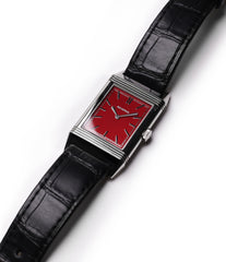 Jaeger-LeCoultre Reverso 1931 Rouge red lacquer dial dress watch online at a Collected Man London for sale