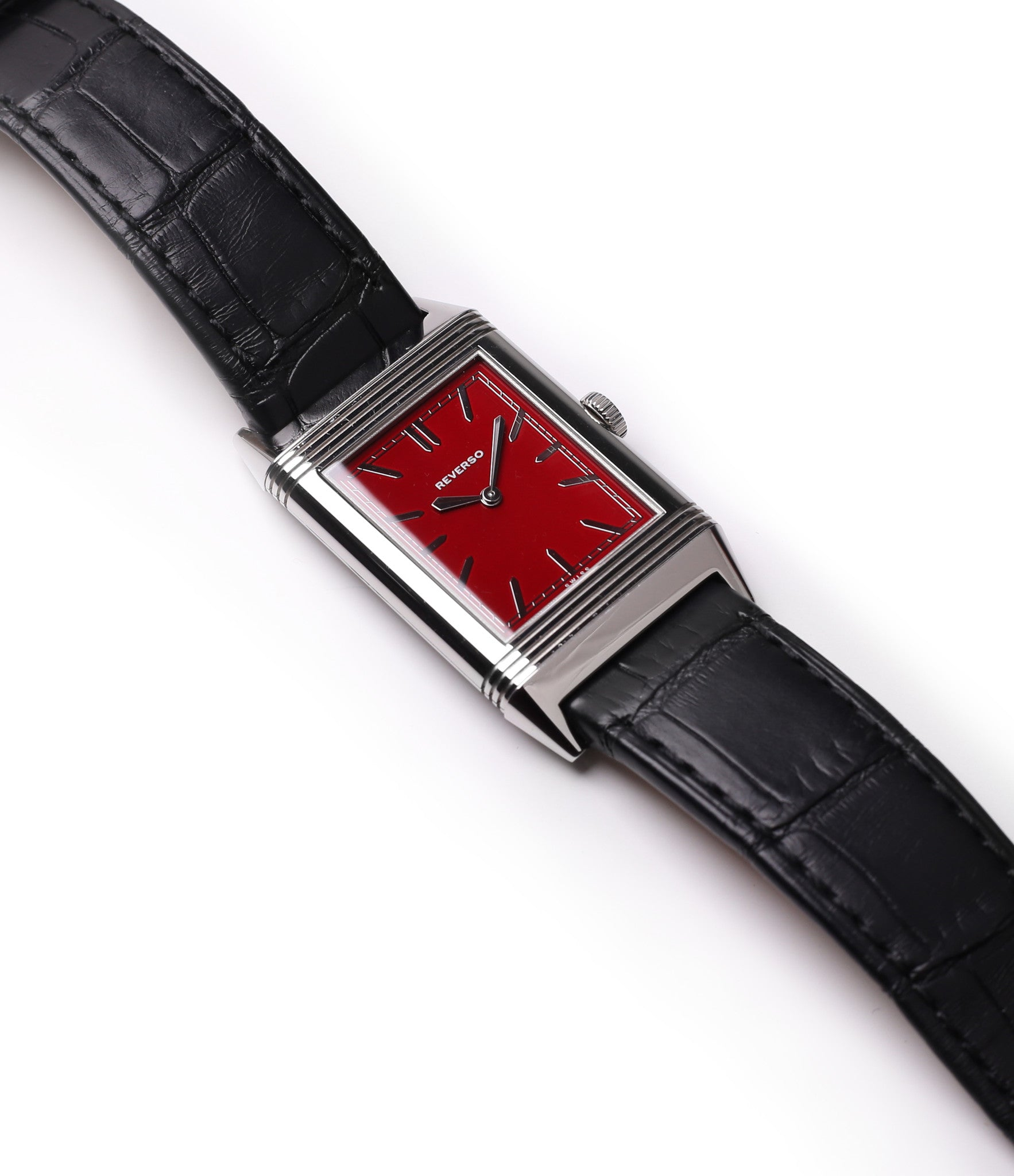 Jaeger-LeCoultre Reverso 1931 Rouge red lacquer dial dress watch online at a Collected Man London selling