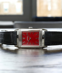 dress watch Jaeger-LeCoultre Reverso 1931 Rouge red lacquer dial dress watch online at a Collected Man London