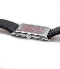 for sale Jaeger-LeCoultre Reverso 1931 Rouge red lacquer dial dress watch online at a Collected Man London