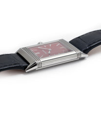 steel Jaeger-LeCoultre Reverso 1931 Rouge red lacquer dial dress watch online at a Collected Man London