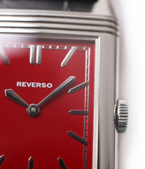 red lacquer dial Jaeger-LeCoultre Reverso 1931 Rouge red lacquer dial dress watch online at a Collected Man London