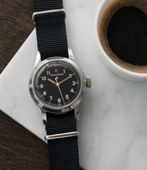 selling vintage Jaeger-LeCoultre Mark 11 6B/346 RAF British military watch online at a Collected Man London online vintage military watch specialist