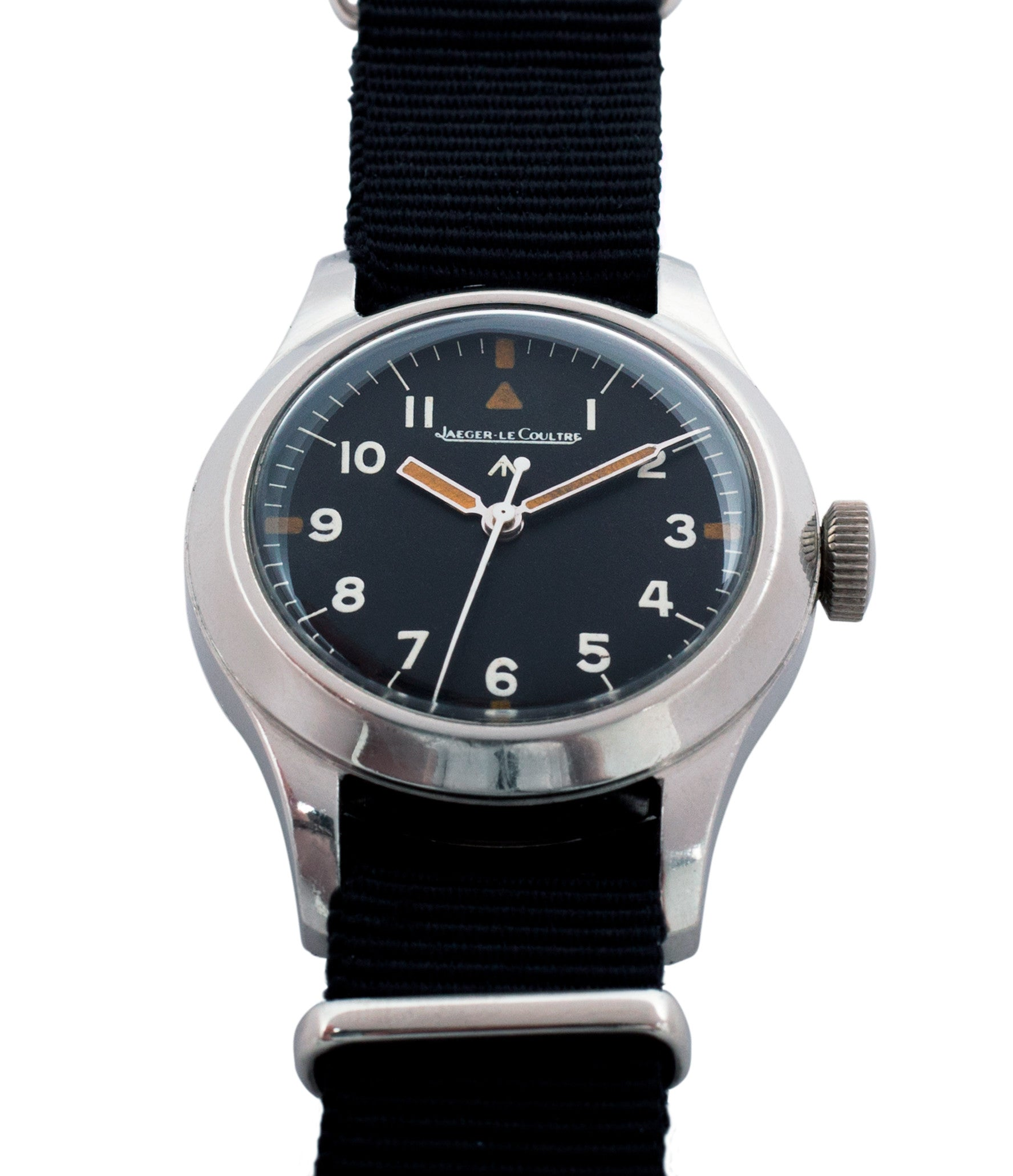 buy vintage black dial Jaeger-LeCoultre Mark 11 6B/346 RAF British military watch online at a Collected Man London online vintage military watch specialist