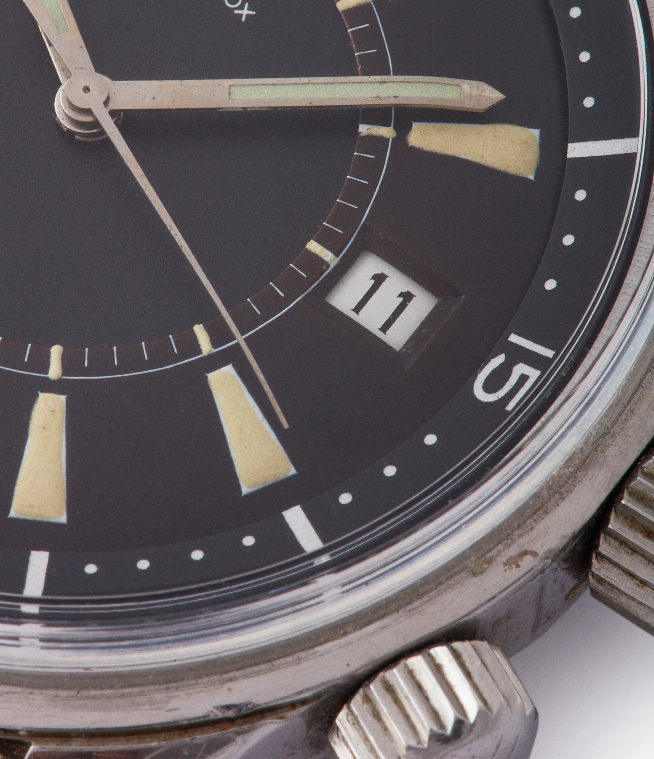 Polaris E859 vintage Jaeger-LeCoultre Memovox alarm diving watch for sale at A Collected Man London UK specialist of rare watches