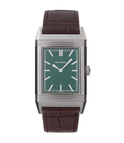 buy Jaeger-LeCoultre Grand Reverso 1931 London Limited Edition 278 85 3L green dial pre-owned steel luxury watch for sale online at A Collected Man London UK specialist of rare watches