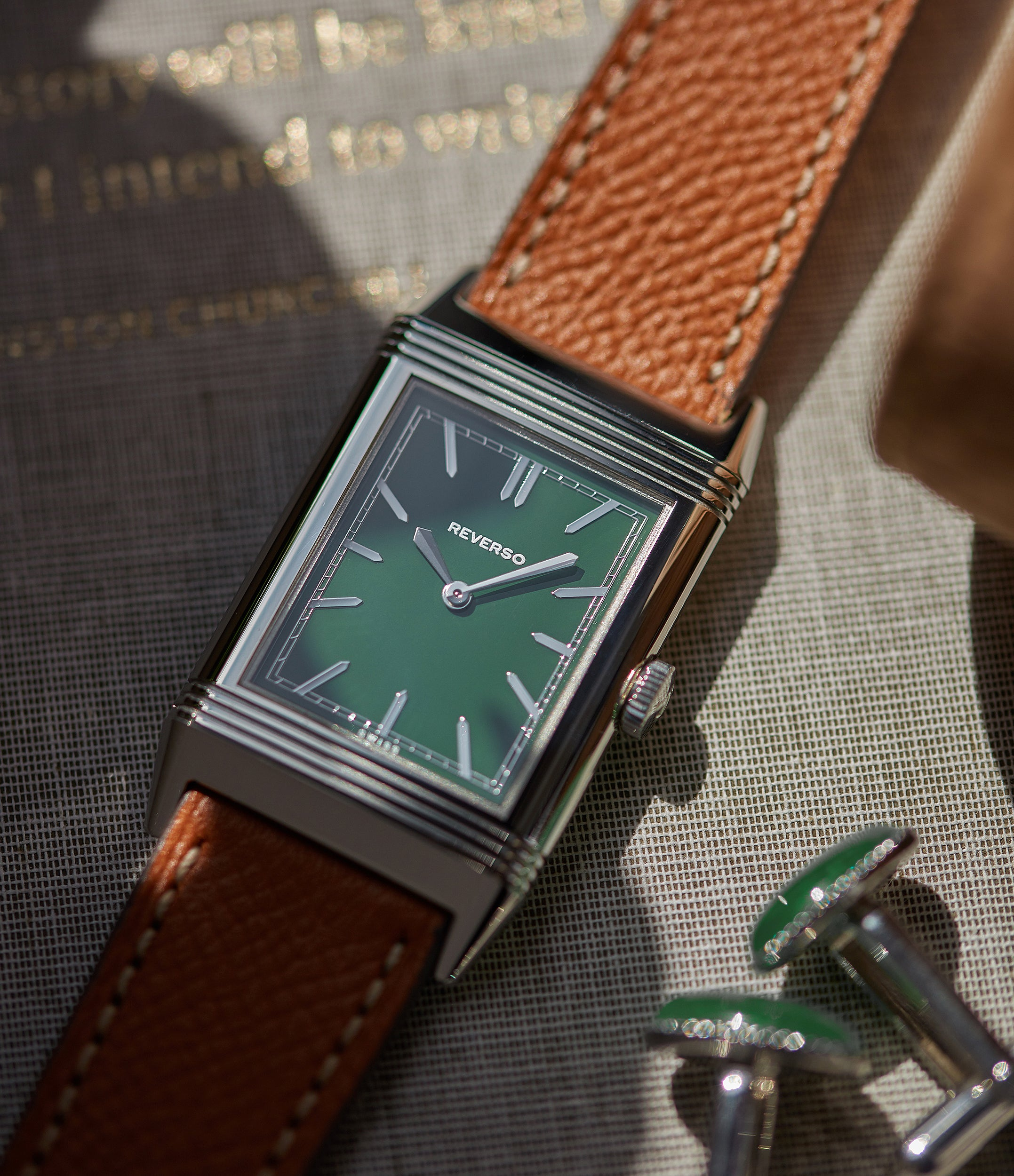 shop men's dress watch Jaeger-LeCoultre Grand Reverso 1931 Green London Flagship Edition