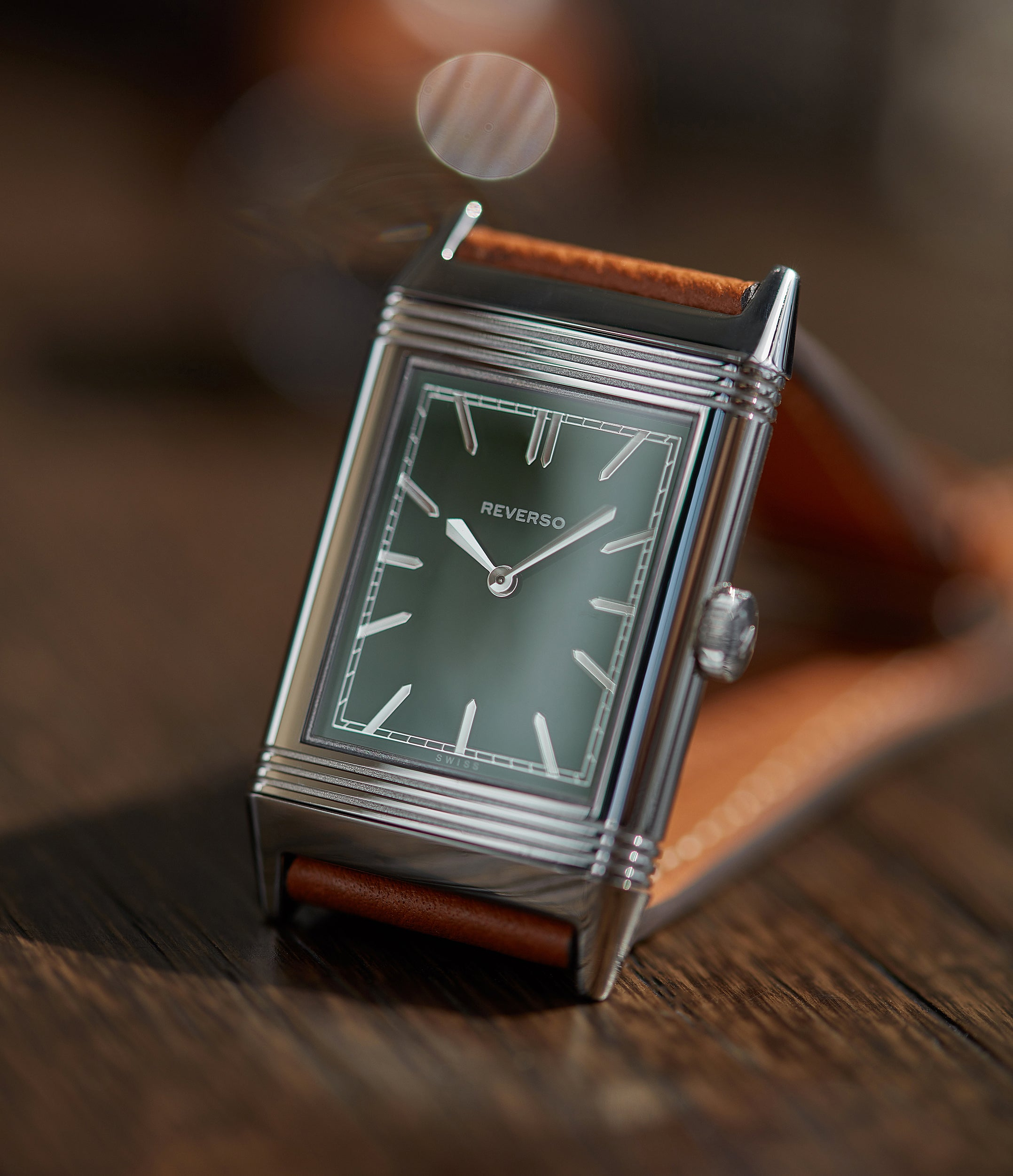luxury Jaeger-LeCoultre Grand Reverso 1931 Green London Flagship Edition mechanical manual