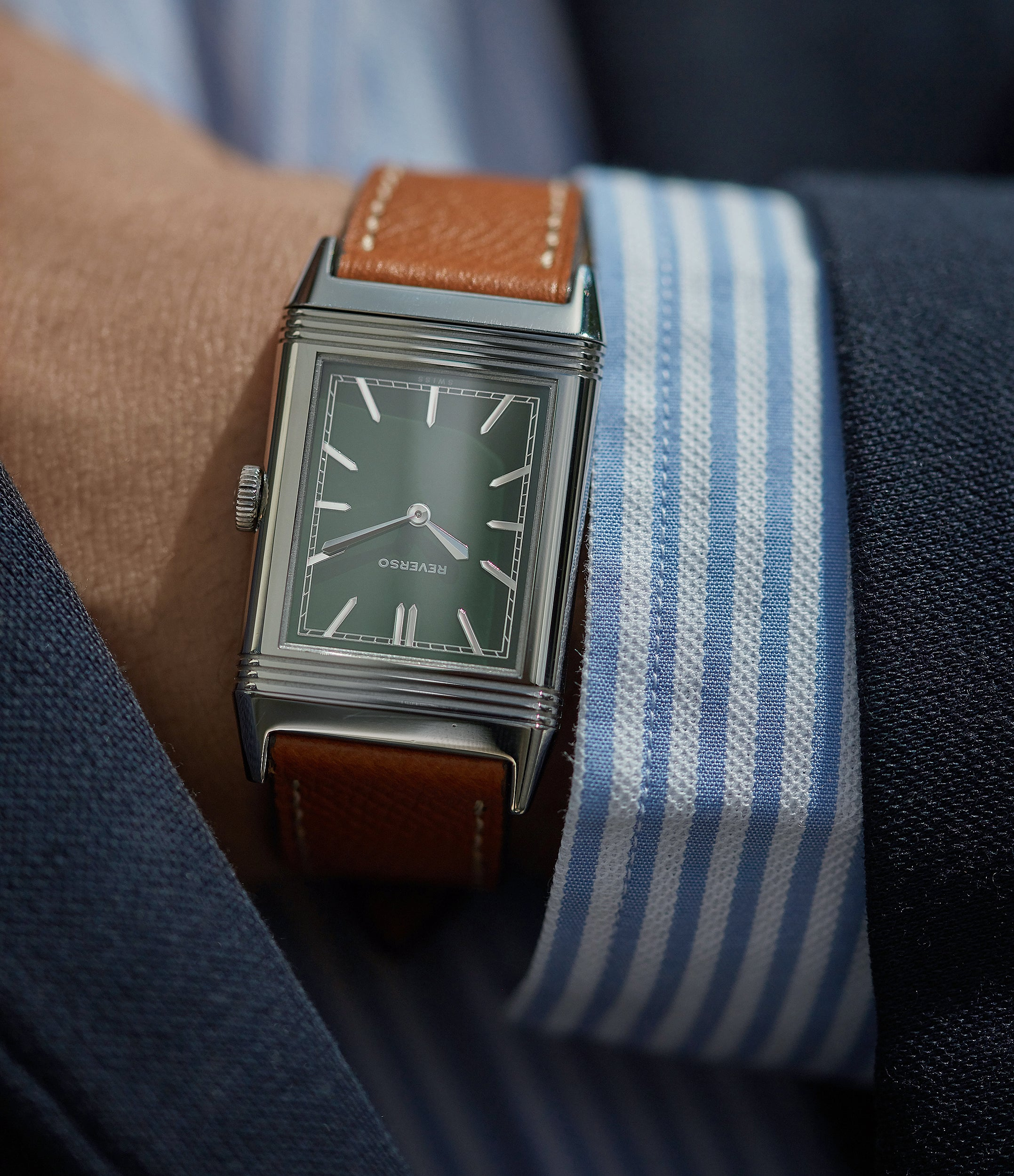 selling Jaeger-LeCoultre Grand Reverso 1931 Green lacquer dial Flagship Edition A Collected Man