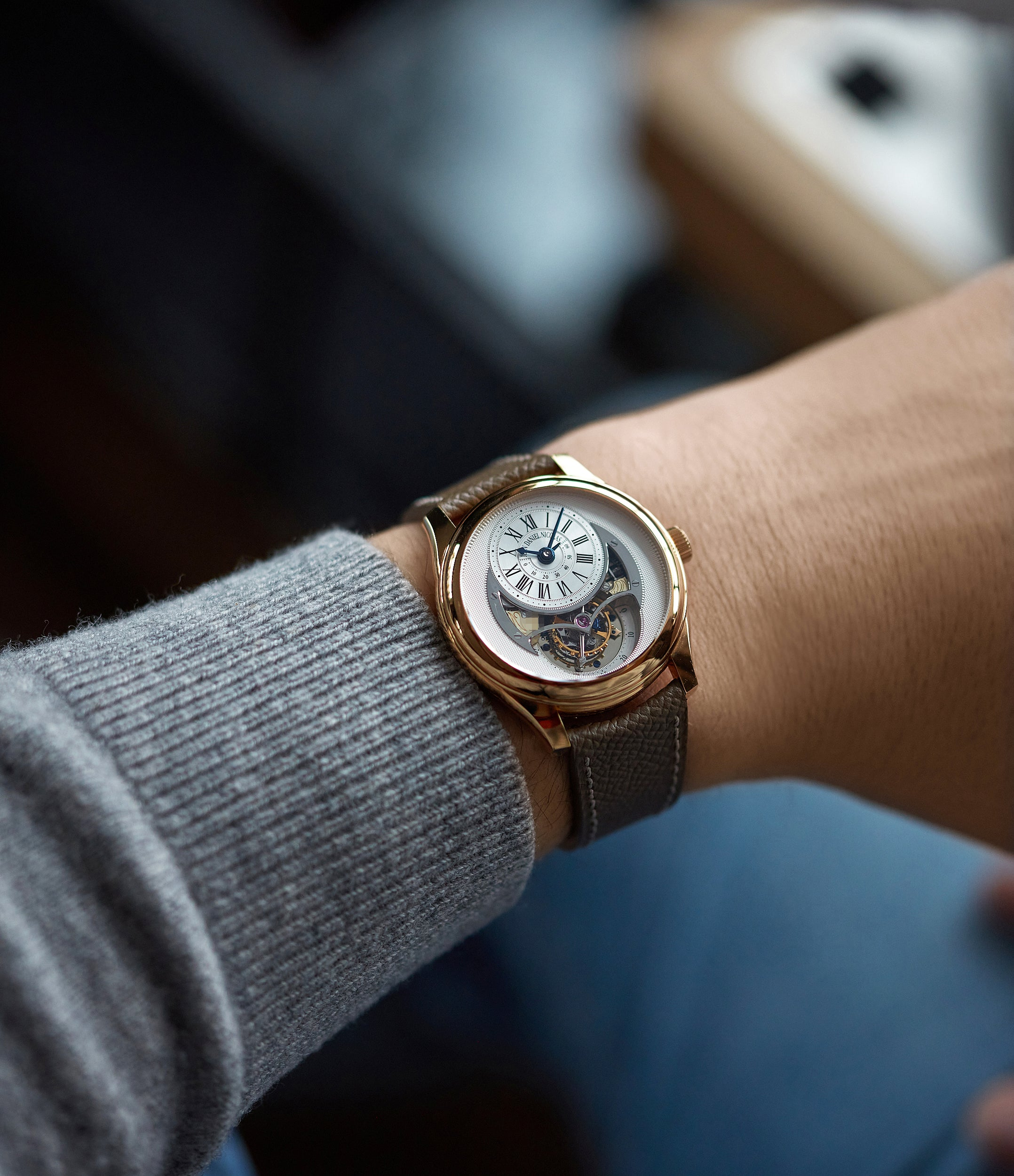 men's wristwatch Jean Daniel Nicolas Two-Minute Tourbillon by independent watchmaker Daniel Roth rose gold pre-owned rare watch for sale online A Collected Man London specialist of rare watches