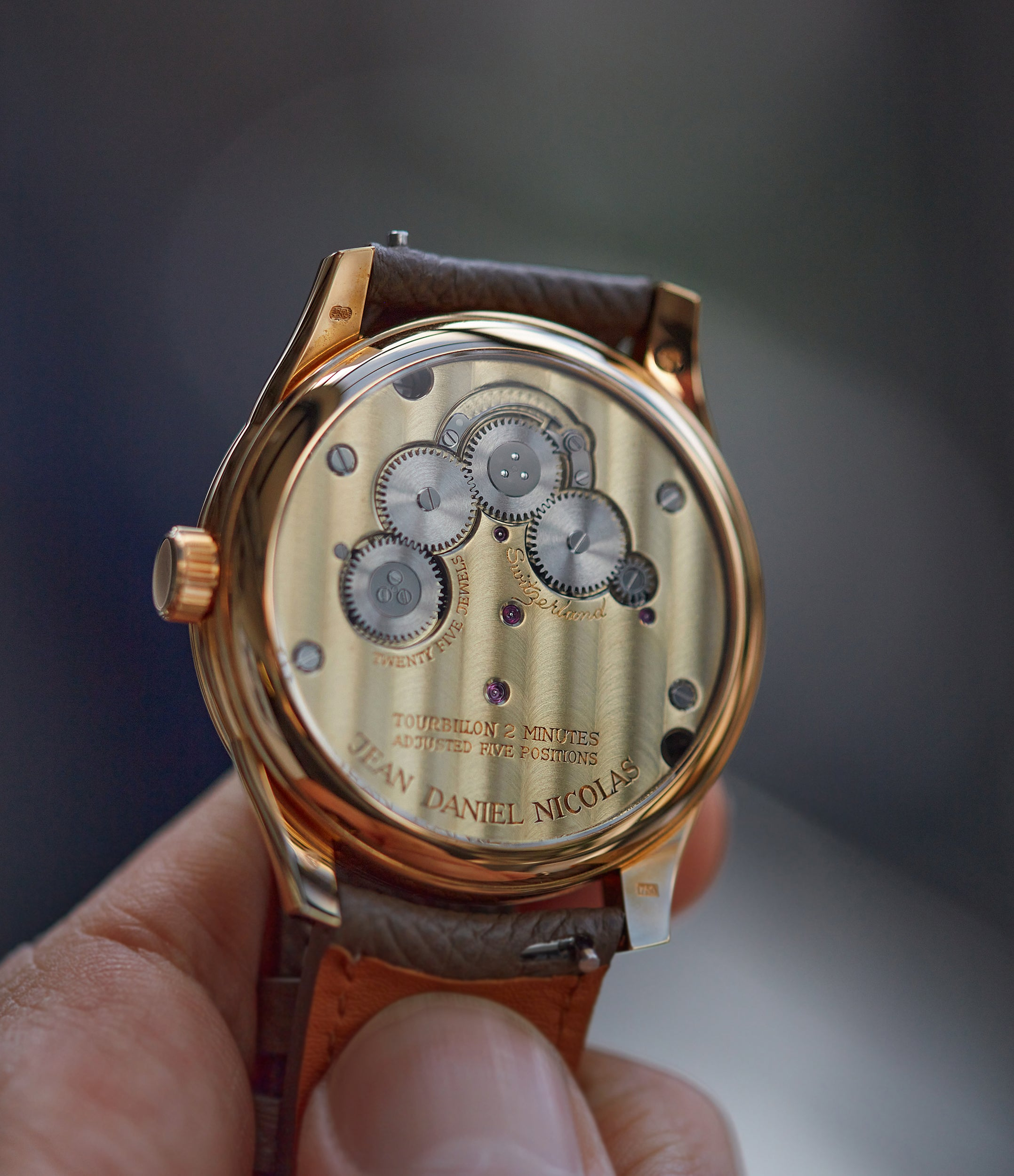 manual-winding tourbillon Jean Daniel Nicolas Two-Minute Tourbillon by independent watchmaker Daniel Roth rose gold pre-owned rare watch for sale online A Collected Man London specialist of rare watches