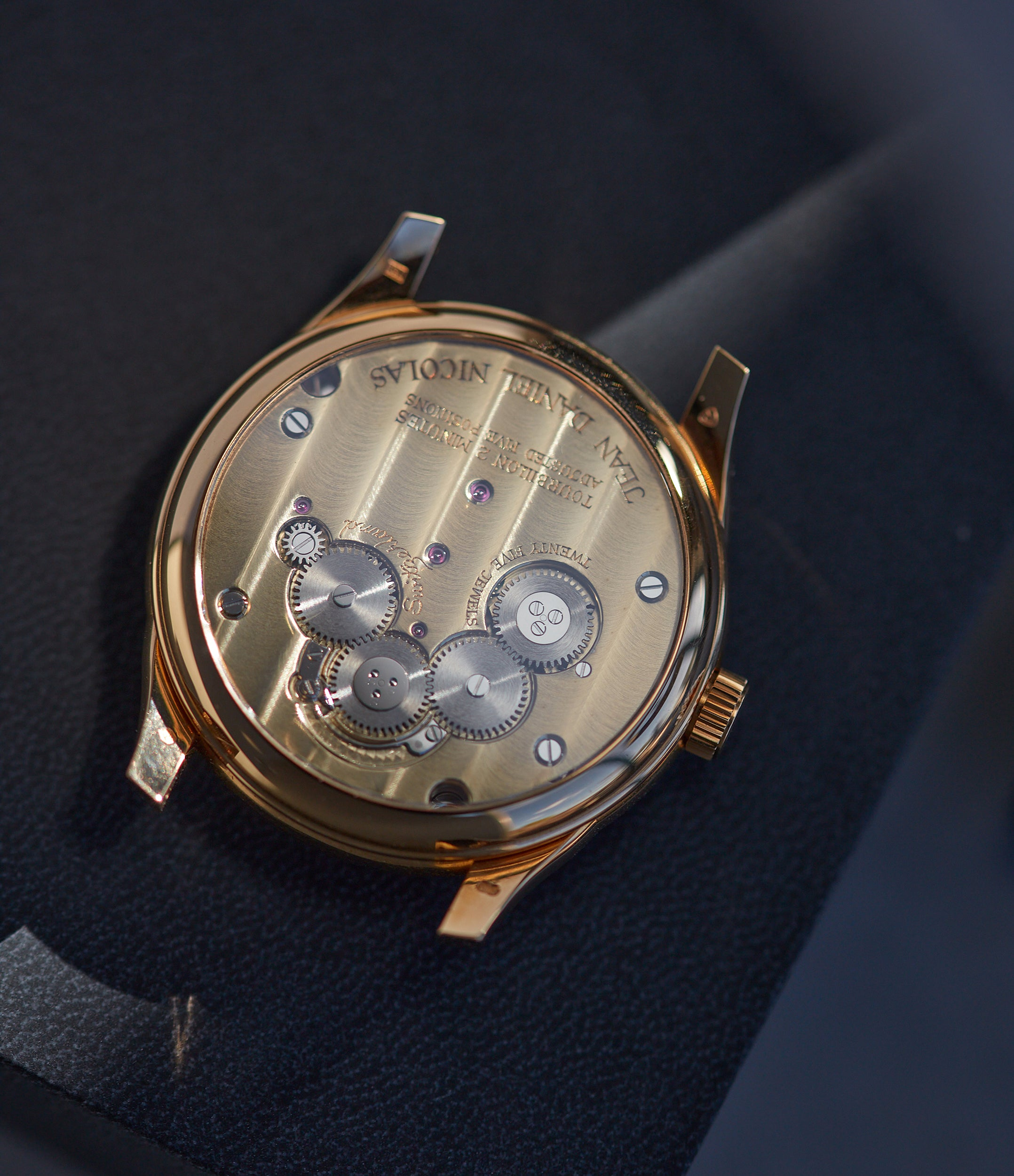 Daniel Roth Jean Daniel Nicolas Two-Minute Tourbillon by independent watchmaker rose gold pre-owned rare watch for sale online A Collected Man London specialist of rare watches
