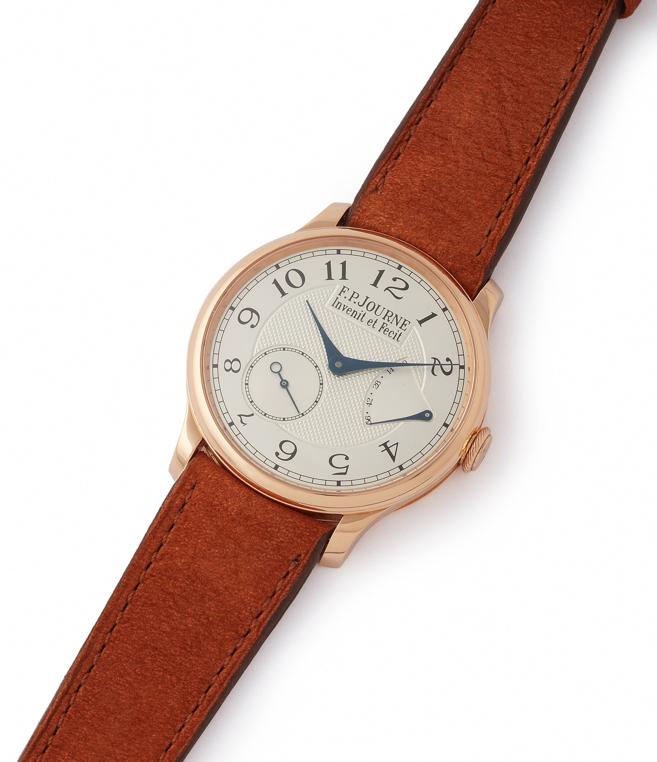 shop F. P. Journe Chronometre Souverain CS.RG.38 rose gold silver dial watch for sale online at A Collected Man London UK specialist of rare watches